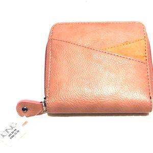 🌺 Dusty Pink Vegan Leather Zip Wallet